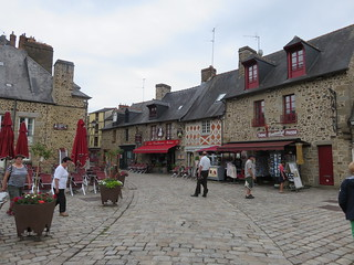Fougères. Town. Old houses, red accents.