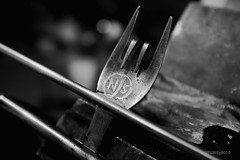 NJS stamped fork (Till Billy) Tags: bicycle t steel rando tracks front stamp rack custom fahrrad touring stainless keirin racks randonneur njs edelstahl gepäckträger