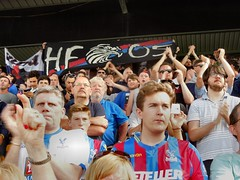 Palace fans at Norwich (Paul-M-Wright) Tags: road city football crystal saturday august palace norwich match fans premier league supporters 08 versus ultras fanatics 2015 cpfc carrow ncfc holmesdale