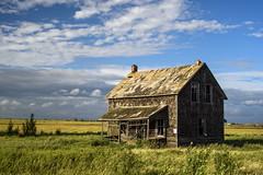 The Perfect House (TigerPal) Tags: saskatchewan sask prairie plains flatland backroads exploration dustyroad gravelroad bethune shakes house farmhouse abandoned forgotten norwegian goldenhour verandah oncewashome ruin