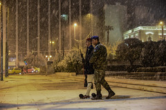 GREECE-WEATHER-SNOW (X-Andra) Tags: center greek athens cold evzonoi greece guard heavy presidential slippery snow snowfall soldier tomb unknown winter attica grc