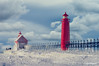 Brrrrr! (Peeblespair) Tags: lighthouses seasons winter grandhaven frozen snow beautifulclouds shiver michigan lakemichigan michiganlighthouse peeblespairphotography peeblespair