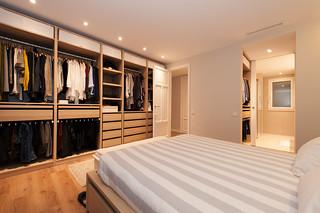 Vestidor en dormitorio - Proyecto Sant Gervasi
