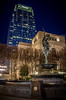 The Birth of Apollo Statue at The Schermerhorn Symphony Center & The Pinnacle Building (donnieking1811) Tags: tennessee nashville architecture building buildings statue statues schermerhornsymphonycenter pinnaclebuilding bluehour birthofapollostatue fountain fountains canon 60d