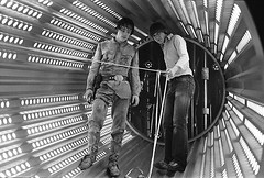 Mark Hamill and second assistant cameraman Peter Robinson behind the scenes on The Empire Strikes Back (Tom Simpson) Tags: markhamill film vintage starwars theempirestrikesback lukeskywalker 1979 1970s empirestrikesback
