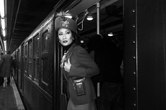 vintage train 2016 (Roy Savoy) Tags: bw blackandwhite streetphotography street noireblanc noir people roysavoy nyc newyorkcity newyork blacknwhite streets streettog streetogs ricoh gr2 candid flickr explore candids city photography streetphotographer 28mm nycstreetphotography gothamist tog mono monochrome flickriver snap digital monochromatic blancoynegro