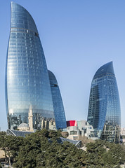 Flame Towers Baku (theo.mirk) Tags: flame tower baku town azerbaijan