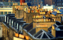Chimneys of Edinburgh (Tony Worrall) Tags: scotland scottish north country place visit area county attraction open stream tour scots uk tourist edinburgh city capital centre street capture outside outdoors caught photo shoot shot picture captured chimney tall tilt tiltrd roof rooftops slate houses home terraced smoke scene