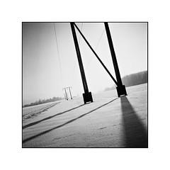 Falling shadows (cardijo) Tags: austria österreich salzburg landscape landschaft winter schnee snow shadow analog film ilford fp4 rodinal rolleiflex tessar zeiss blackandwhite bw schwarzweis sw nikon coolscan monochrome