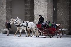 Fiaker (desmokurt1) Tags: salzburg austria color farbe kurtessler fuji fujixpro2 city downtown village mozart salz pferde hourse kutsche zweispänner