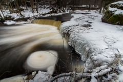 Valgejõgi (Incredible Imagination) Tags: estonia valgejõgi river longexposure fall water estland nikon winter cold spin foam ice trees day