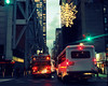 (Cécile Pommeron) Tags: newyork cars trafic lights night city nyc bus