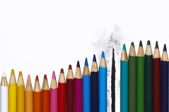 Week 1: Rule Of Thirds (Spontaneous Combustion) (Ben Aerssen) Tags: colours colors colour color pencil pencils colouredpencils coloredpencils charcoal charred spontaneouscombustion ruleofthirds wave highkey green red blue yellow orange purple white black pink dogwood2017 week1 dogwood52week1 dogwood52
