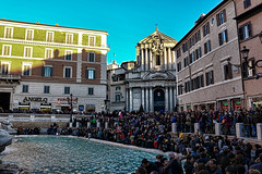 Trevi Fountain (martinelliss) Tags: italy rome buildings fountains people