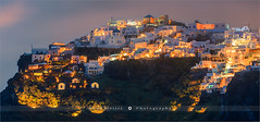 Imerovigli after sunset - Santorini - Greece (~ Floydian ~ ) Tags: henkmeijer photography floydian greece santorini imerovigli village town island sunset evening dusk aegeansea caldera cliff cliffs cyclades islands greekculture volcanic architecture mediterranean canon canoneos1dsmarkiii