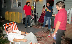 20160619 0019 - Rainbow Party #1 - I Like Red - Grayson, Nathan, {person I later took to court going into front door},  Mike, Wolf - outside - IMG_0914 (Rev. Xanatos Satanicos Bombasticos (ClintJCL)) Tags: 20160618 201606 2016 trespasser party partyclintandcarolyn partyclintandcarolyn20160618 partyclintandcarolynrainbowparty partyclintandcarolynrainbowparty20160618 partyclintandcarolynrainbowpartyred partyclintandcarolynrainbowpartyred20160618 partyclintandcarolynred partyclintandcarolynred20160618 partyrainbowparty partyrainbowparty20160618 partyrainbowpartyclintandcarolyn partyrainbowpartyclintandcarolyn20160618 partyrainbowpartyred party20160618 party20160618clintandcarolyn partyred partyred20160618 rainbowparty rainbowpartyclintandcarolyn rainbowpartyclintandcarolyn20160618 rainbowparty20160618 redparty redparty20160618 virginia alexandria clintandcarolynshouse yard frontyard graysonheck standing mikethomas wolflaughlin lounging lawnchair chair lawn mattress nathan