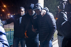 Post-Shoot Love (Brother Christopher) Tags: videoshoot photoshoot video film music rap hiphop culture nyc thebronx bronx harlem streets outdoors nighttime people portraits group work camera movie explore peace love haddyracks resume newyorkgritty freestyle track songs songwriter