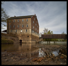 Bollinger Mill and Burfordville Covered Bridge - No. 4 (Nikon66) Tags: bollingermill burfordvillecoveredbridge coveredbridge mill whitewaterriver waterfall burfordville missouri nikon d800