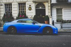 Blue Car GTR (fgazioli) Tags: london londres car exoticcar nissan gtr