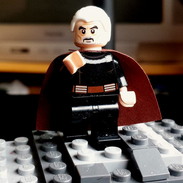 RIP SIR Christopher Lee Lego COUNT DOOKU