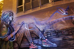 berlin juin 2015 152dev (fafa des bawoaa) Tags: street light streetart berlin art architecture night painting long metro nacht alexanderplatz nuit constructivism longexpo