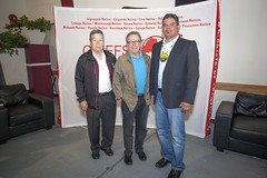 Minister David Zimmer at the 2015 AOCC to congratulate Regional Chief Day's election. Theme 'Strengthening our Relationships,' hosted by Anishinabe of Wauzhushk Onigum First Nation (Rat Portage) Treaty #3 Territory. (Indigenous Relations and Reconciliation) Tags: ontario government anishinabe governmentofontario ratportage davidzimmer aboriginalaffairs ministryofaboriginalaffairs isadoreday allontariochiefsconference anishinageofwauzhushkonigumfirstnation