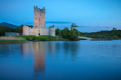 Ross Castle At Blue Hour (Hughie O'Connor) Tags: old travel ireland irish mountain lake tower castle history tourism monument nature water stone wall architecture landscape outdoors ross ancient lough fort ruin scenic landmark medieval kerry muckross historic killarney historical past fortress idyllic defense irishhistory ringofkerry loughleane rosscastle lakesofkillarney irishcastles irishculture