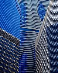 When Buildings Collide- Explore '15 #140-  Chicago IL (Meridith112) Tags: blue summer white chicago reflection building june architecture reflections illinois nikon midwest il explore riverwalk cookcounty swissotel skyscrapper 2015 explored nikon2485 aquabuilding 303eastwackerdrive 303eastwacker nikond610 swissotelbuilding explore7132015