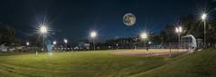 Moon Ball HSS (superdavebrem77) Tags: nightphotography sport composite baseball wideangle tokina peterborough 1116mm canon70d sliderssunday jamesstevensonpark