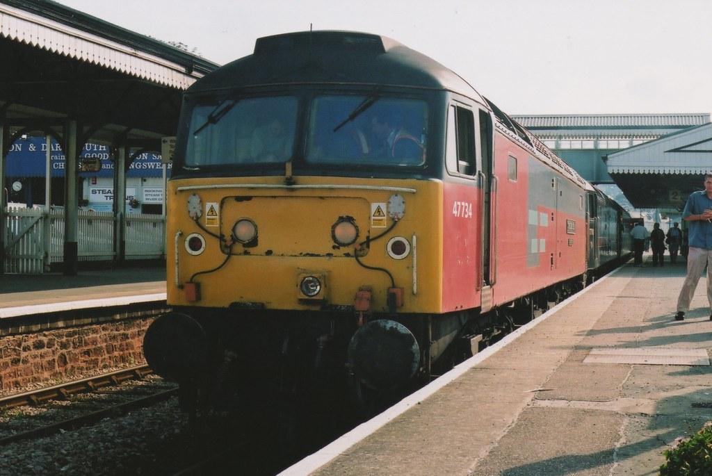 """Res 'Railnet' Class 47/7, 47734 """"Crewe Diesel Depot"""""""