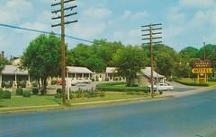 Purple Heart Motel - Nashville, Tennessee (The Cardboard America Archives) Tags: vintage nashville tennessee postcard motel powerlines