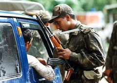 INDIA-REBEL-ROAD CHECK (scrolleditorial) Tags: india soldier kohima ceasefire