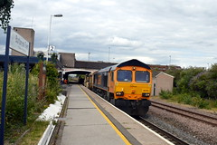 66701 passing through Burton-on-Trent with the 6K50 Toton to Crewe Basford Hall departmental, 23rd July 2015. (Dave Wragg) Tags: railway loco locomotive departmental class66 burtonontrent networkrail gbrf 66701 6k50