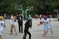 (moonhouse) Tags: china basketball nikon photographer photoshoot 5 8 cameras wigs kunming redhair kina purplehair greenhair yellowhair yunnanuniversity nikond800