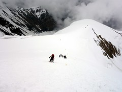 """Climbers on the steep plod to Camp 3 • <a style=""""font-size:0.8em;"""" href=""""http://www.flickr.com/photos/41849531@N04/20431269406/"""" target=""""_blank"""">View on Flickr</a>"""
