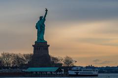 Early Morning Salute (Nikon D500 Shooter) Tags: libertystatepark statueofliberty america ferry newjersey