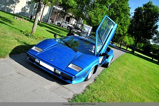 Lamborghini Countach doors open