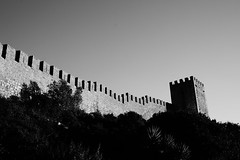 walled (brunolabs) Tags: walled fortification tower castle portugal óbidos stairway contrast