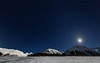 Moon light over Portage (Traylor Photography) Tags: alaska night winter halfmoon stars mountains moon panorama snow softlight begichboggsvisitorcenter moonlight milkyway lake portage clouds anchorage glacier cold stack iceberg frozen unitedstates us