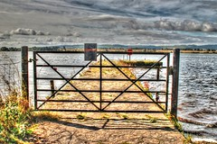 The Gate to the Old Pier (The Frantic Photographer) Tags: gate pier scotland historicscotland water sky outdoor clouds hdr