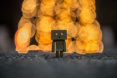 Danbo in front of a Christmas tree outdoors (Vagelis Pikoulas) Tags: danbo toy christmas tree outdoors canon 6d tamron 70200mm vc bokeh vilia greece