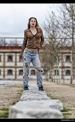 Silvia - 4/5 (Pogdorica) Tags: modelo sesion retrato posado silvia matadero chupa cuero chica sexy