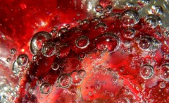 The Color Red, Redux 2016 (Explore, December 27, 2026) (M. Carpentier) Tags: macromondays redux2016myfavoritethemeoftheyear red rouge macro bulles bubbles crystal abstract abstrait
