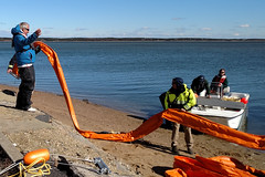 GRP-Edgartown- 2016-10-25 01 (Massachusetts Dept. of Environmental Protection) Tags: grp exercise boom oilspillresponse training firstresponders mospra massachusetts marthasvineyard 2016 edgartown massdep massoilspillact geographicresponseplan water harbor boat