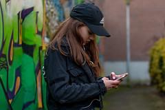On the street (muldermirjam) Tags: girl graffity adidas colours cap beautiful photography shoot photoshoot