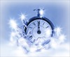 Flickr Friday: Sparkling (Sue90ca Blue Monday: Stay Positive, Go For A Walk) Tags: sparkling flickrfriday clock midnight