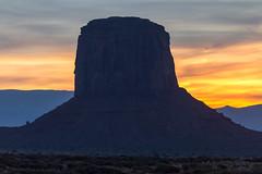 Monument Valley sunset (mfeingol) Tags: arizona navajo monumentvalley navajotribalpark silhouette night evening sunset