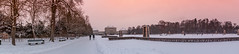 Schlossgarten Panroama - München (mistermo) Tags: schloss castle nymphenburg sunset sonnenuntergang munich münchen munichlife photography sun evening winter snow schnee