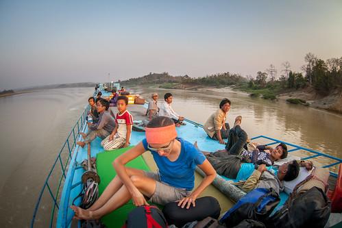 Nasze łoże na łódce
