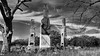 200 years later (ariel is . . .) Tags: threebrickchimneys oldhouse ruins virginia va trees clouds bw early1800s ca1800 archedfireplaces whatsleft gone empty abandoned arson doubleshoulderedchimneys fancypantsbrickwork